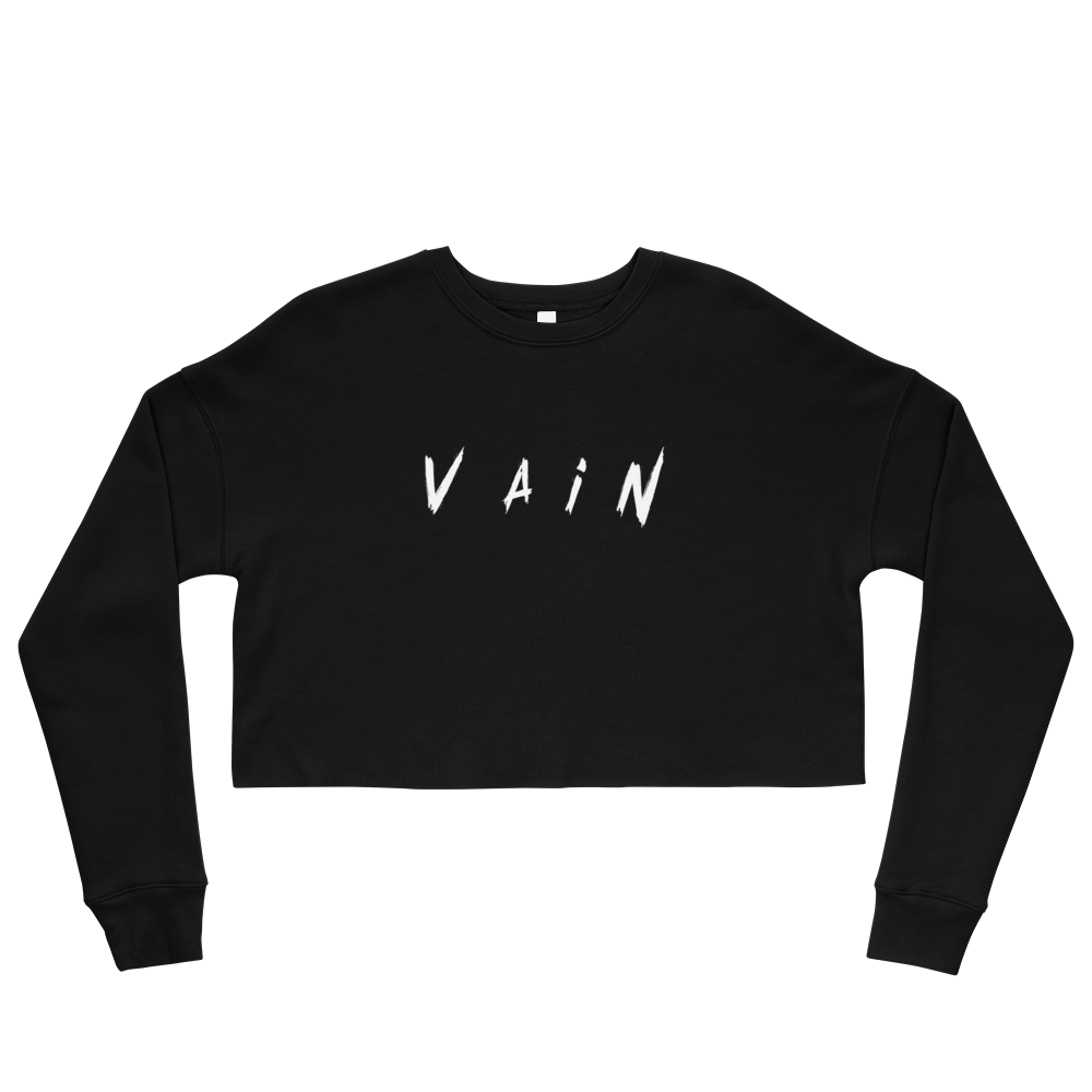 Vain Crop Sweatshirt - BlackKohco