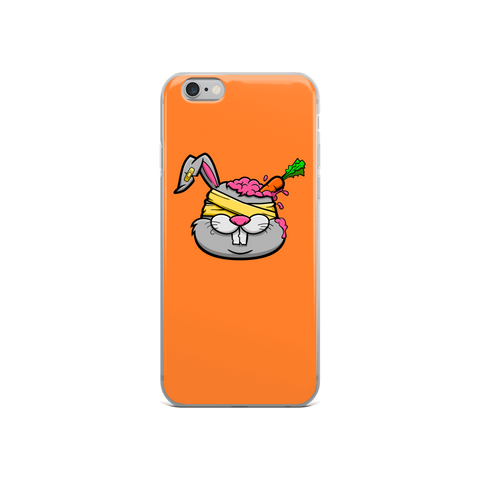Zombie-Bunny-With-The-Carrot-in-His-Brain iPhone Case