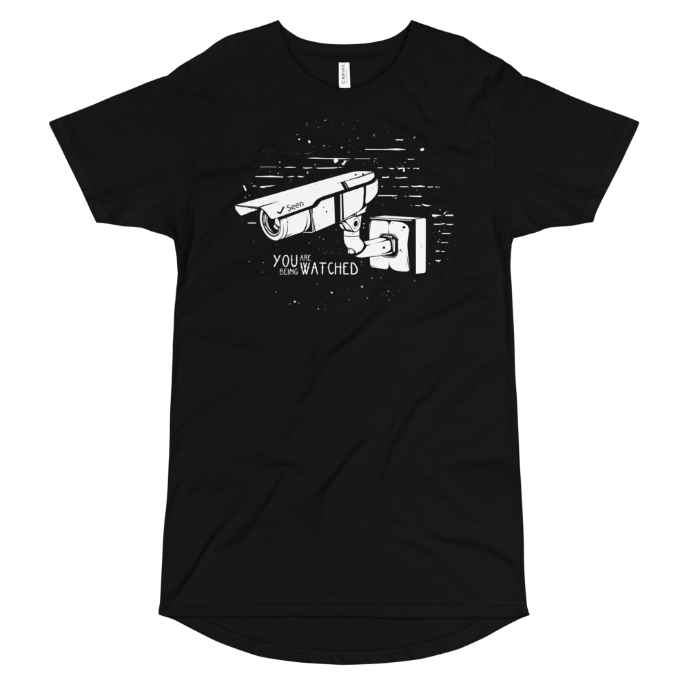 You've Been Watched Long Body Urban Tee - BlackKohco