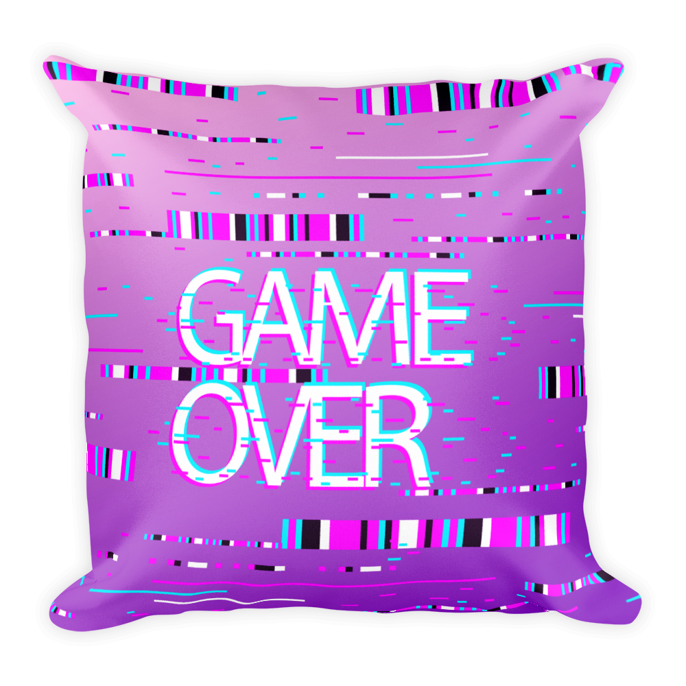 Game Over Basic Pillow