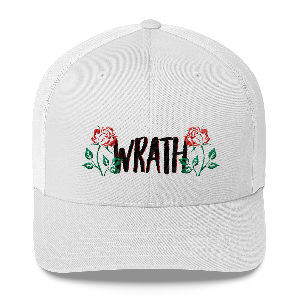 Wrath With Roses Trucker Cap - BlackKohco