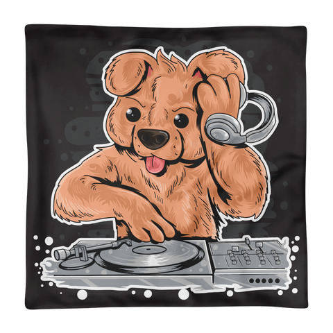 DJ TEDDY BEAR HOUSE MUSIC PARTY Basic Pillow Case only