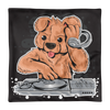 DJ TEDDY BEAR HOUSE MUSIC PARTY Basic Pillow Case only - BlackKohco