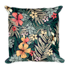 Tropical background Basic Pillow - BlackKohco