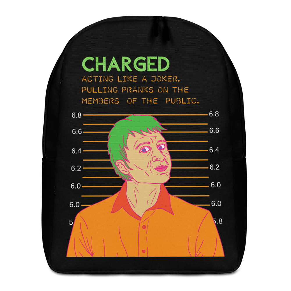 Charged Joker Minimalist Backpack - BlackKohco