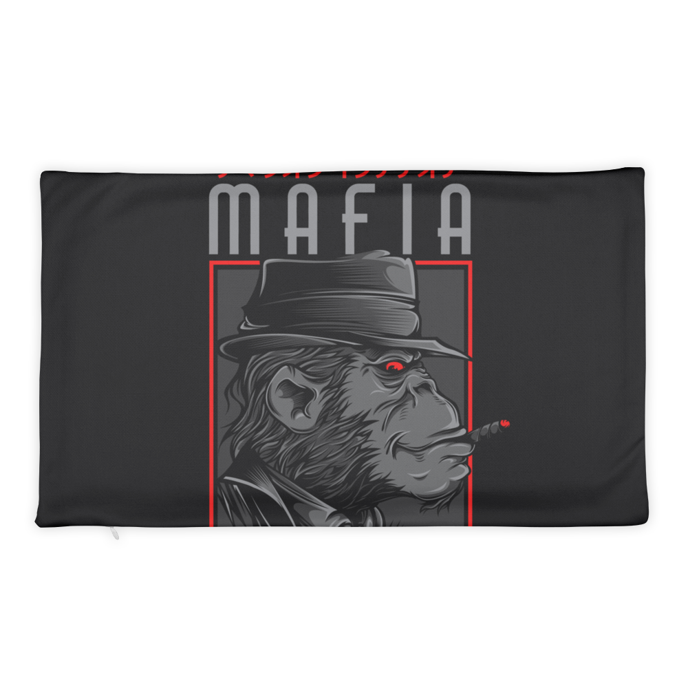Mafia Monkey Basic Pillow Case only - BlackKohco