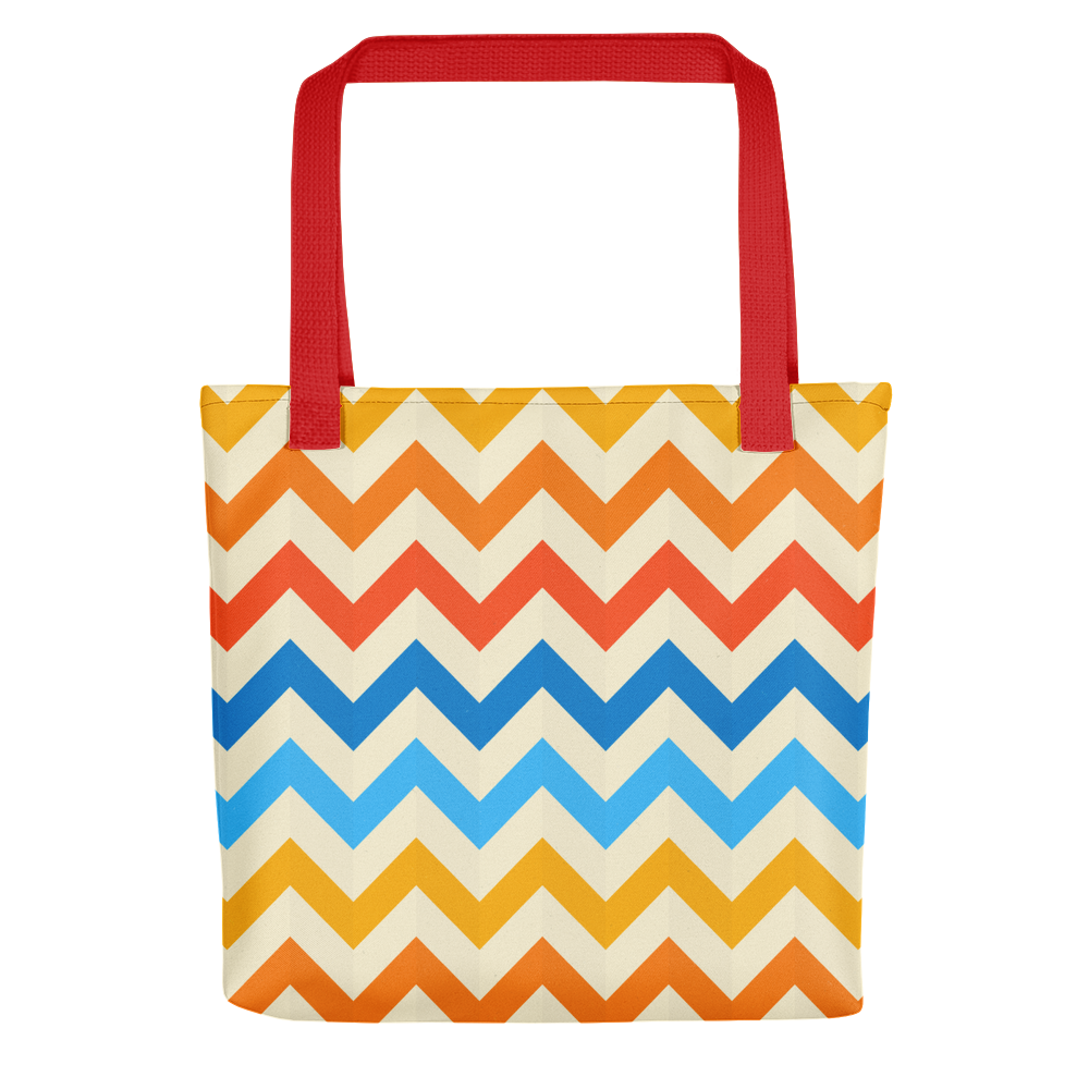 Zig Zag Pattern Stripes Tote bag - BlackKohco