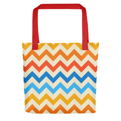 Zig Zag Pattern Stripes Tote bag
