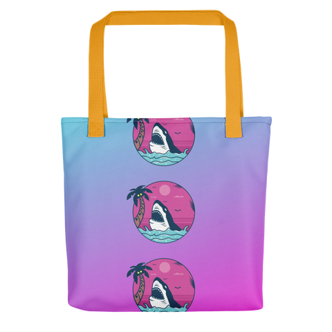 Look Out Its A Shark Pink Tote Bag