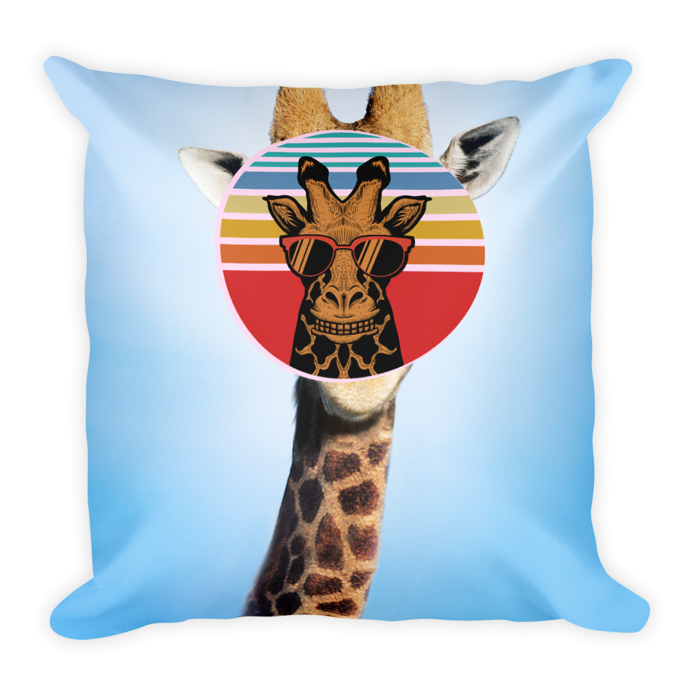 Summer Cool Giraffe Basic Pillow