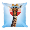Summer Cool Giraffe Basic Pillow - BlackKohco