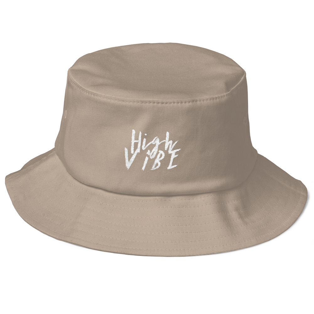 High Vibe Old School Bucket Hat - BlackKohco