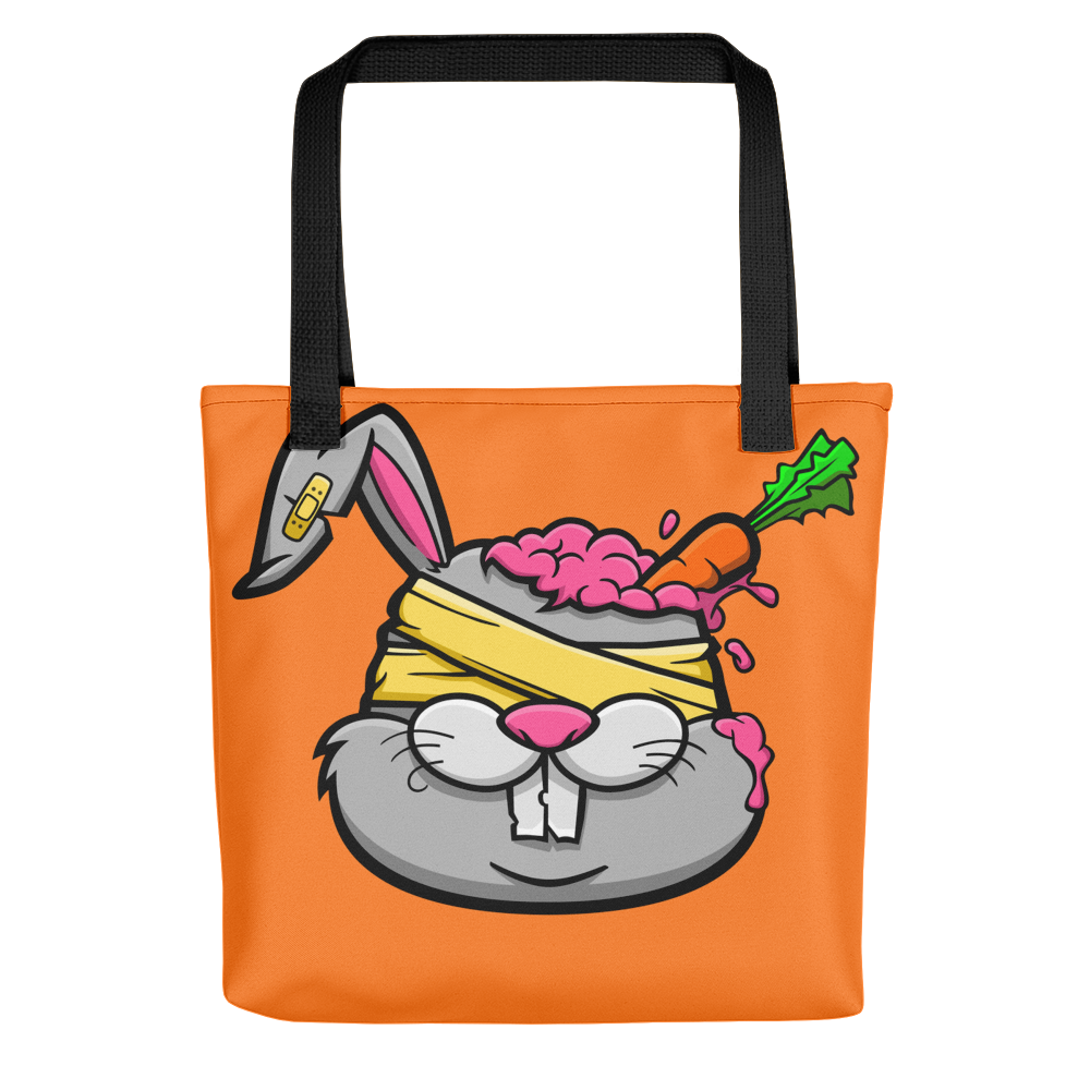 Rabbit with vegitable Tote bag - BlackKohco