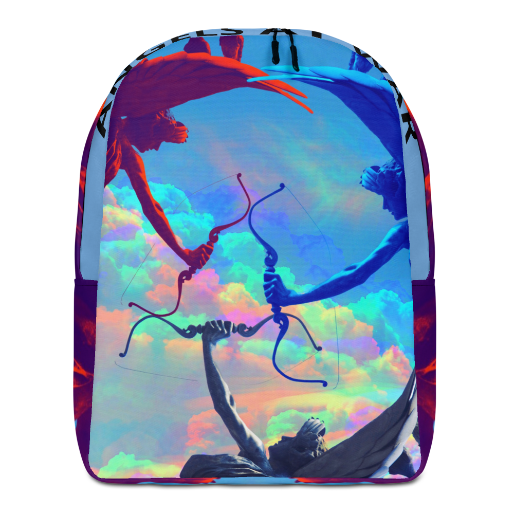 Angels At War Minimalist Backpack - BlackKohco