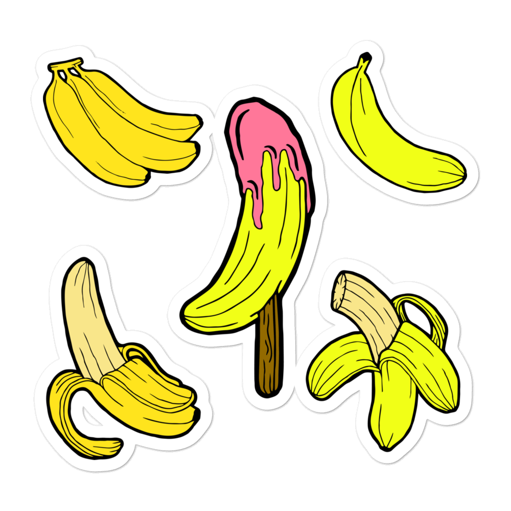A bunch Of Bananas Vinyl Bubble-free stickers