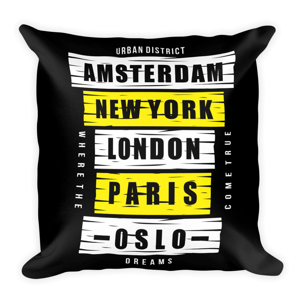 London Paris New York Basic Pillow