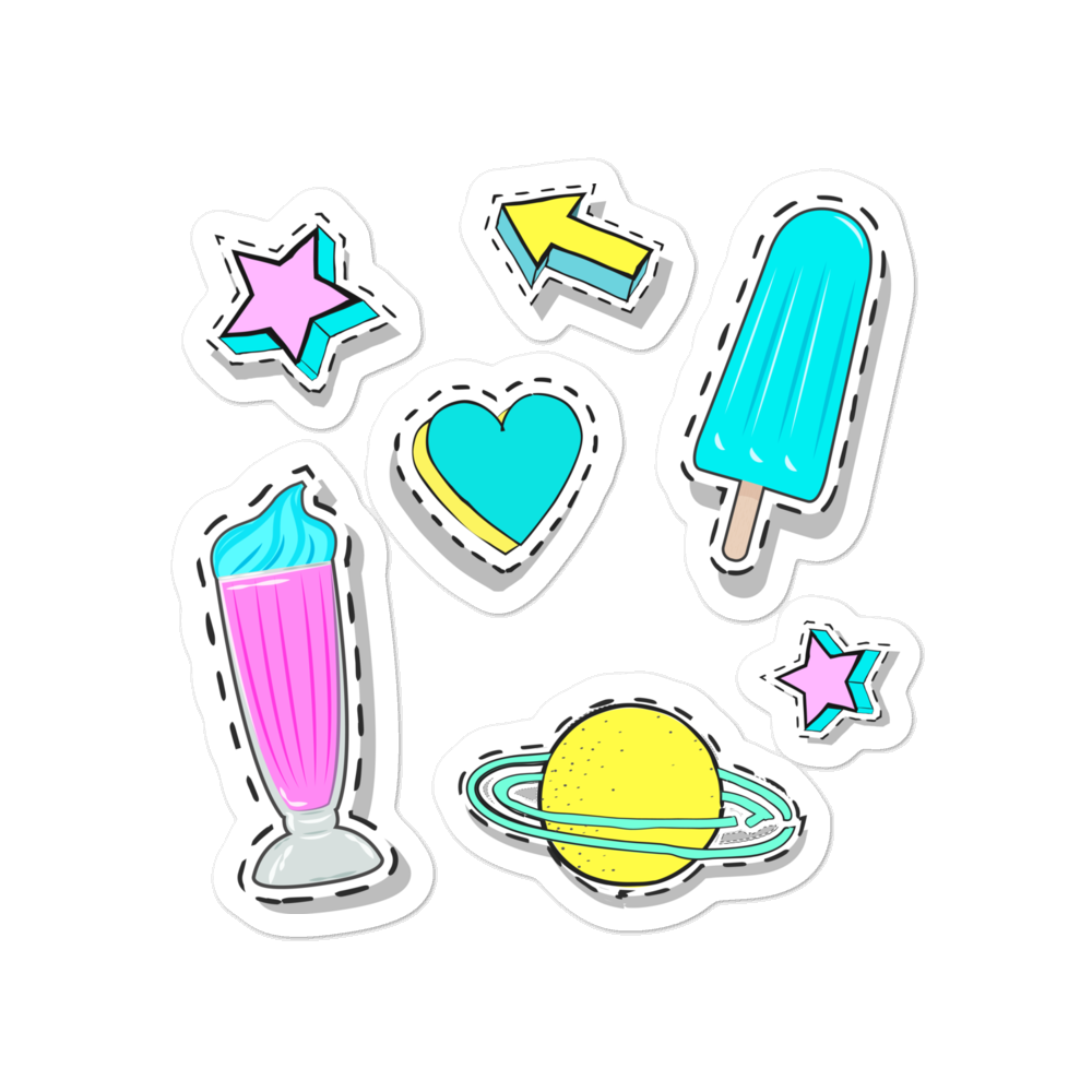 Ice Cream, lollies and the stars Vinyl Bubble-free stickers