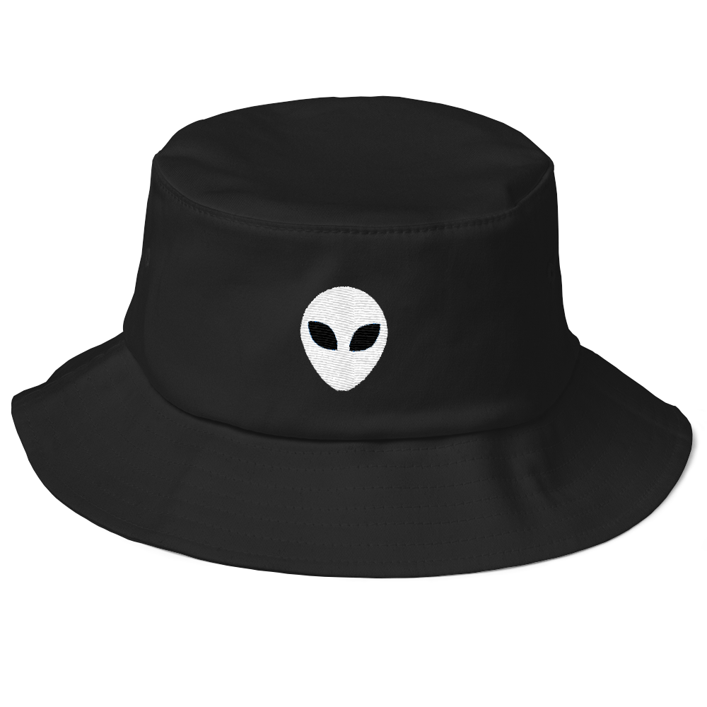 Alien Icon Old School Bucket Hat - BlackKohco