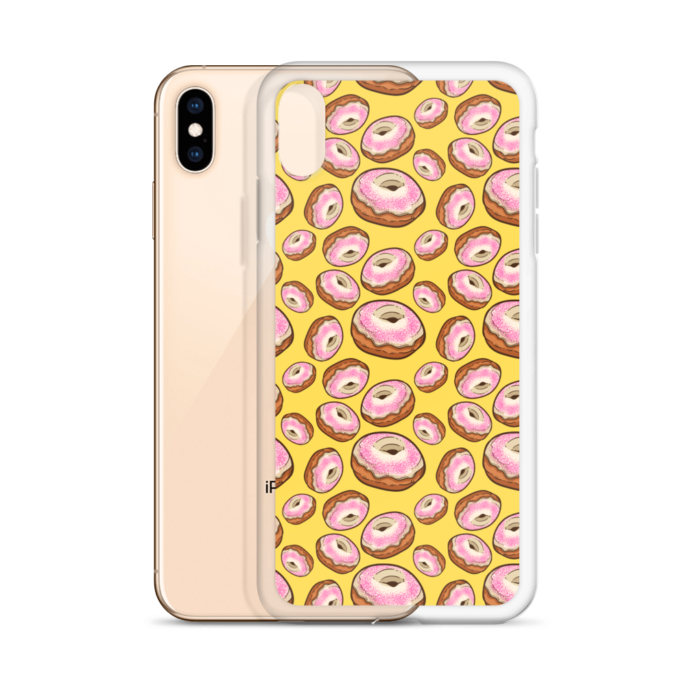Donut Mad iPhone Case - BlackKohco