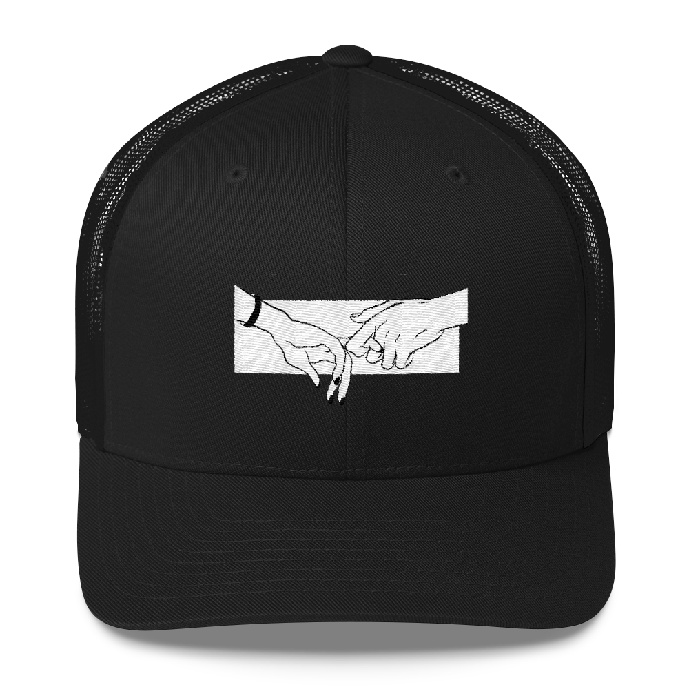 The Lovers Hold Trucker Cap - BlackKohco