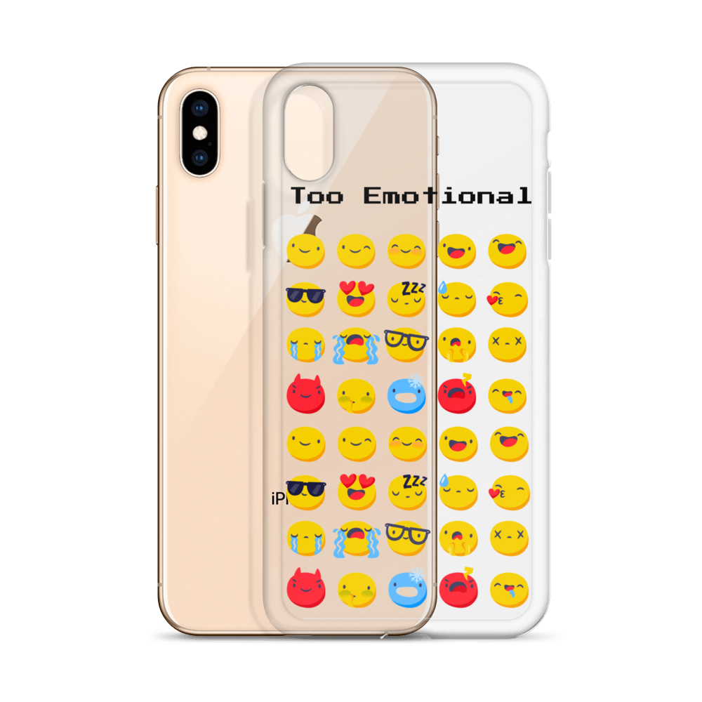 Too Emotional Emoji's iPhone Case - BlackKohco