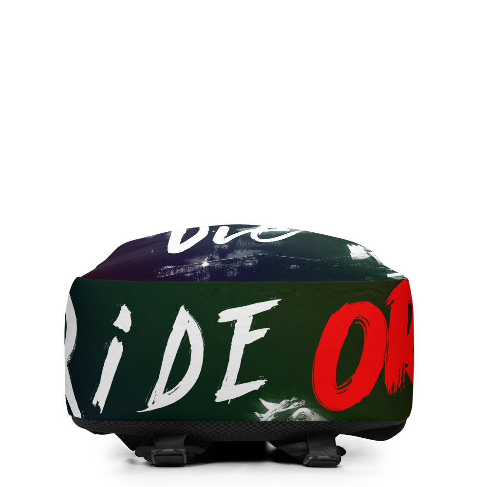 Ride Or Die Minimalist Backpack - BlackKohco