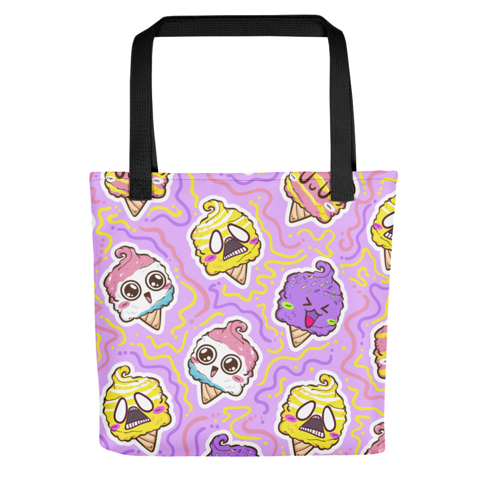 Emoji Ice Cream Tote Bag