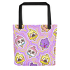 Emoji Ice Cream Tote Bag - BlackKohco