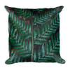Tropical leafy green Basic Pillow - BlackKohco