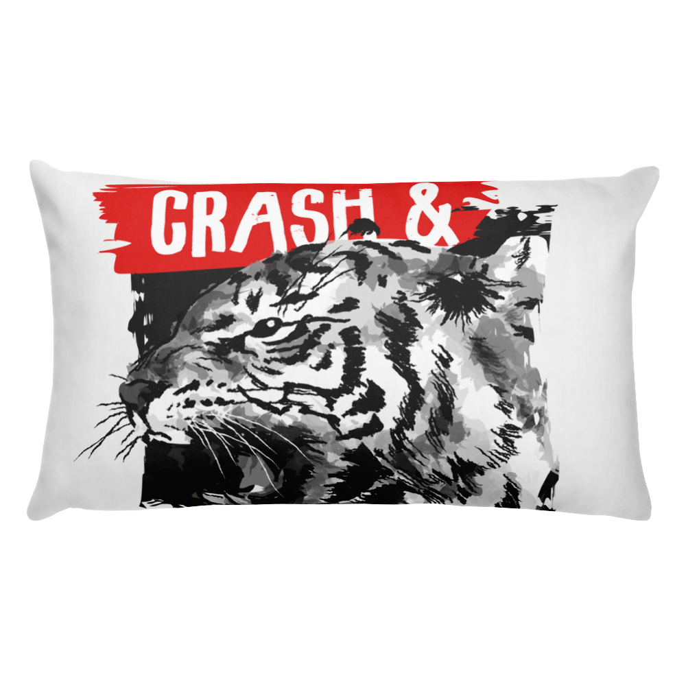 typography-slogan-with-tiger-illustration Basic Pillow