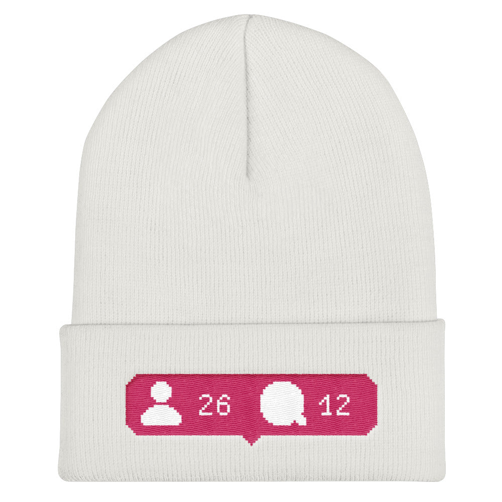Social Media Likes Hat Cuffed Beanie - BlackKohco