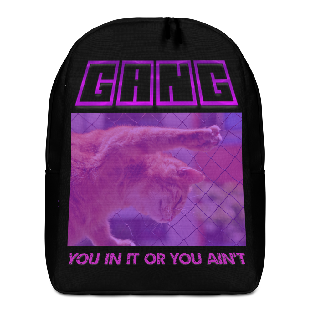 Gang You Init Or You Ain't Minimalist Backpack - BlackKohco