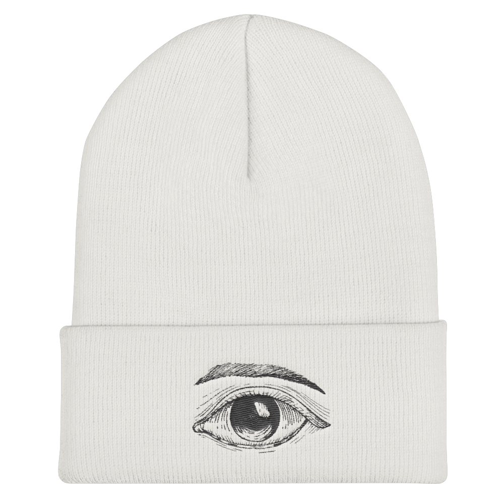 Your Third Eye Opened Cuffed Beanie - BlackKohco
