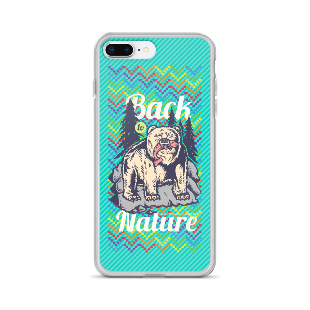 Back To Nature iPhone Case - BlackKohco