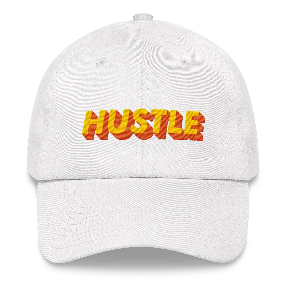 3d-double-gradient-font-effect-with-cool-modern-gradient Dad hat - BlackKohco