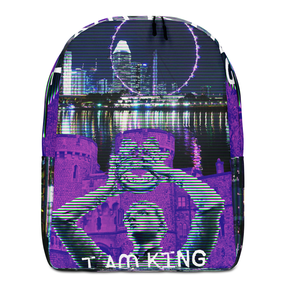 I AM KING Minimalist Backpack - BlackKohco