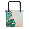 Tropical Leaves Tote Bag - BlackKohco