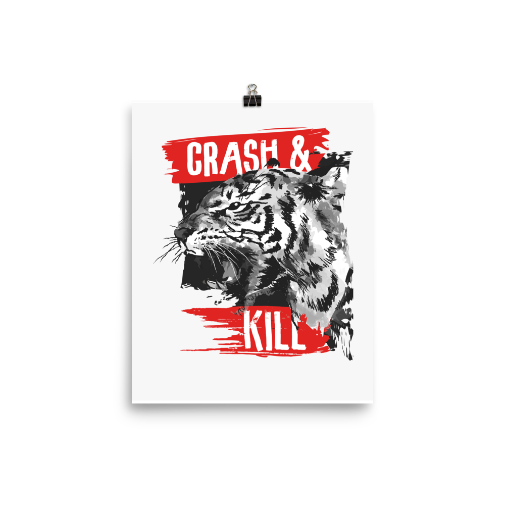 Typography-slogan-with-tiger-illustration Poster