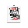 Typography-slogan-with-tiger-illustration Poster - BlackKohco