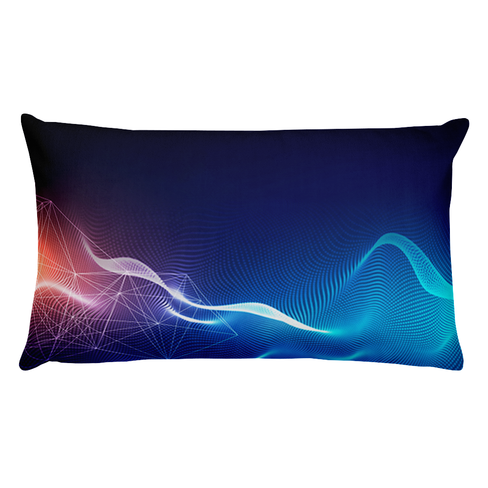 Technology background with light effect Basic Pillow
