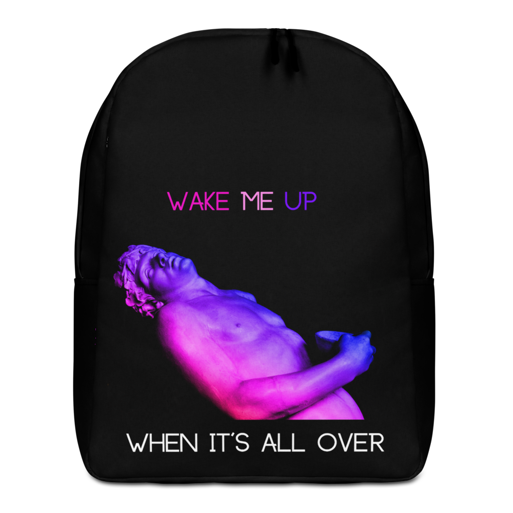 Wake Me Up Minimalist Backpack - BlackKohco
