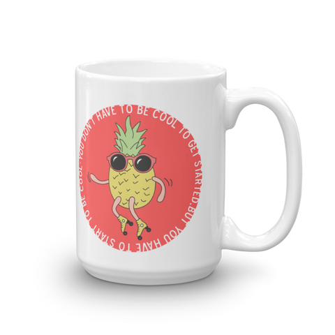 Skating Pineapple Mug