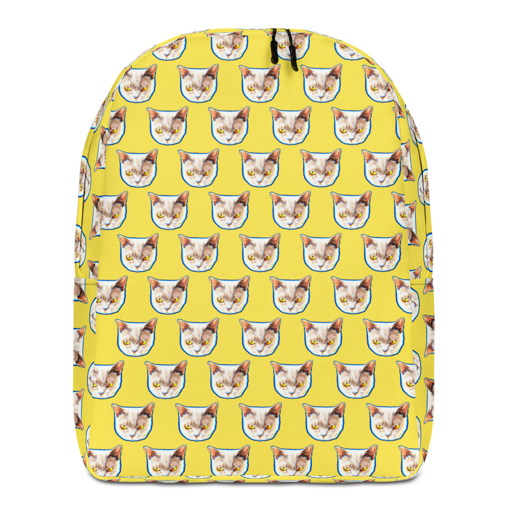 Cat Pattern Minimalist Backpack - BlackKohco