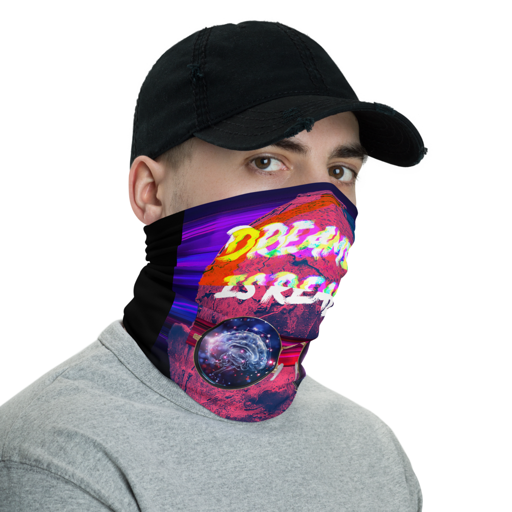 Dreaming Is Reality Neck Gaiter - BlackKohco