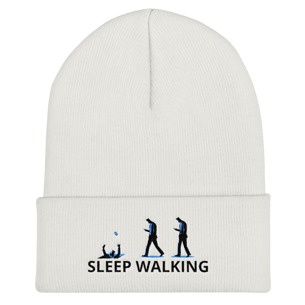 Sleep Walking Cuffed Beanie - BlackKohco