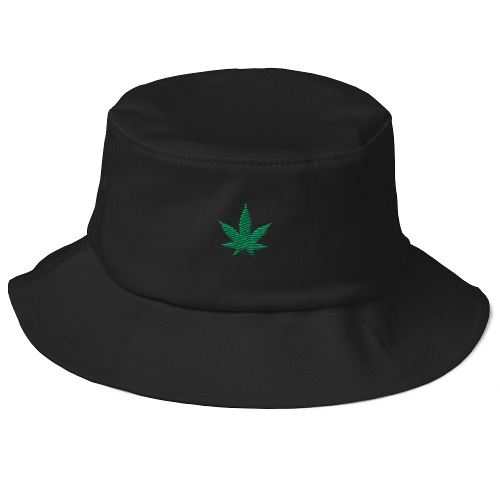 Weed Hemp Old School Bucket Hat - BlackKohco