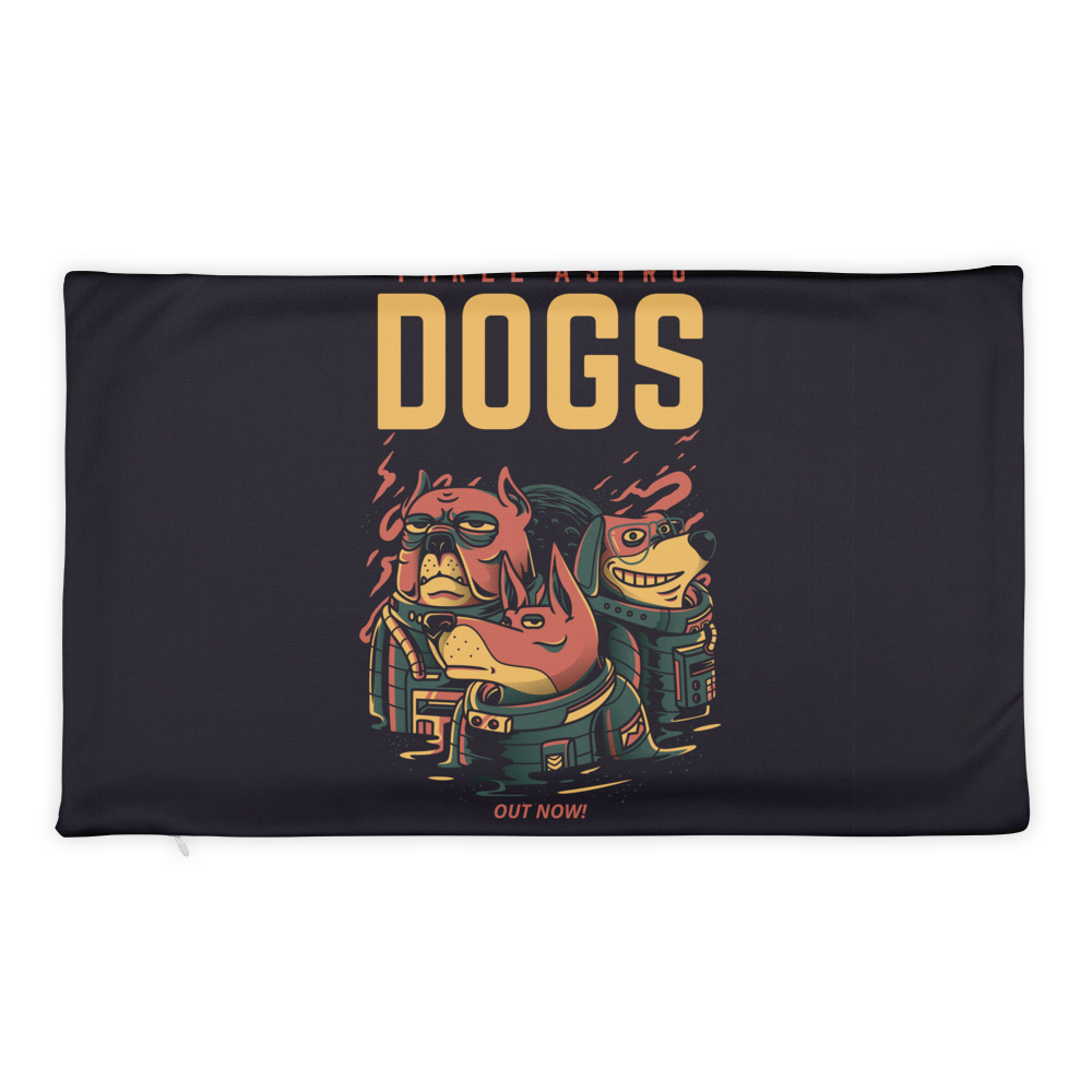 Three Astro Dogs Basic Pillow Case only