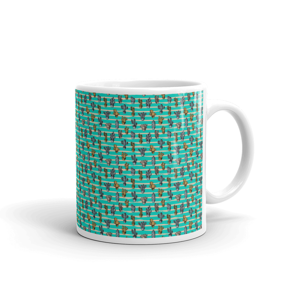 Cacti On Th Line Mug - BlackKohco