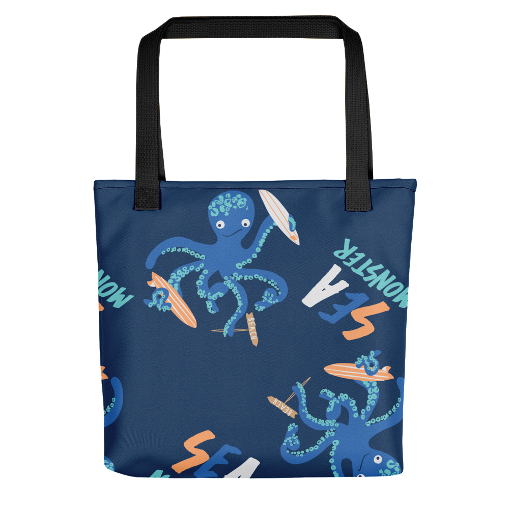 Octopus-Pattern-Set Tote bag - BlackKohco