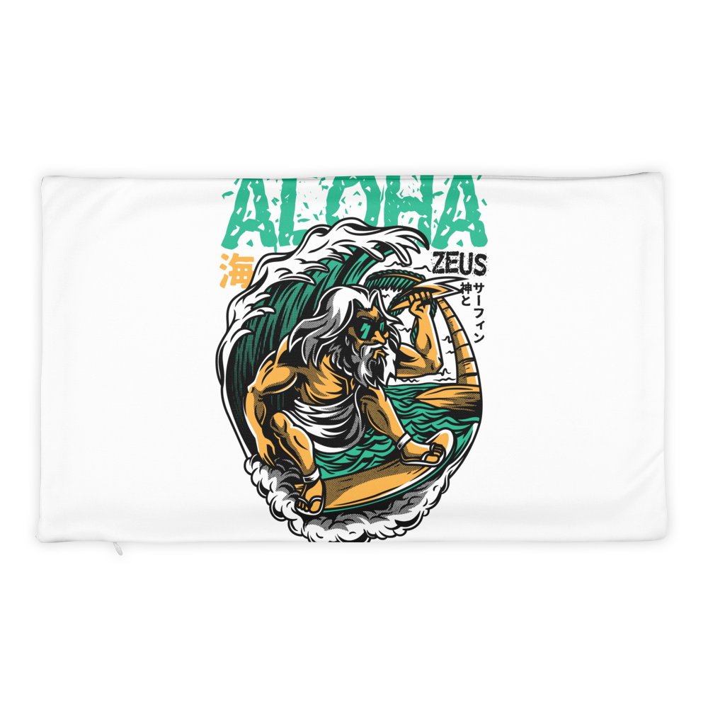 Aloha Zeus Basic Pillow Case only - BlackKohco